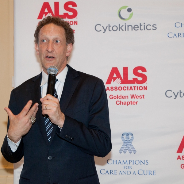 Larry Baer, president and CEO of the San Francisco Giants, makes a speech to event guests at The InterContinental Mark Hopkins on June 3, 2016 in San Francisco. (Credit: Kelly Sullivan/Getty Images for ALS Association Golden West Chapter)