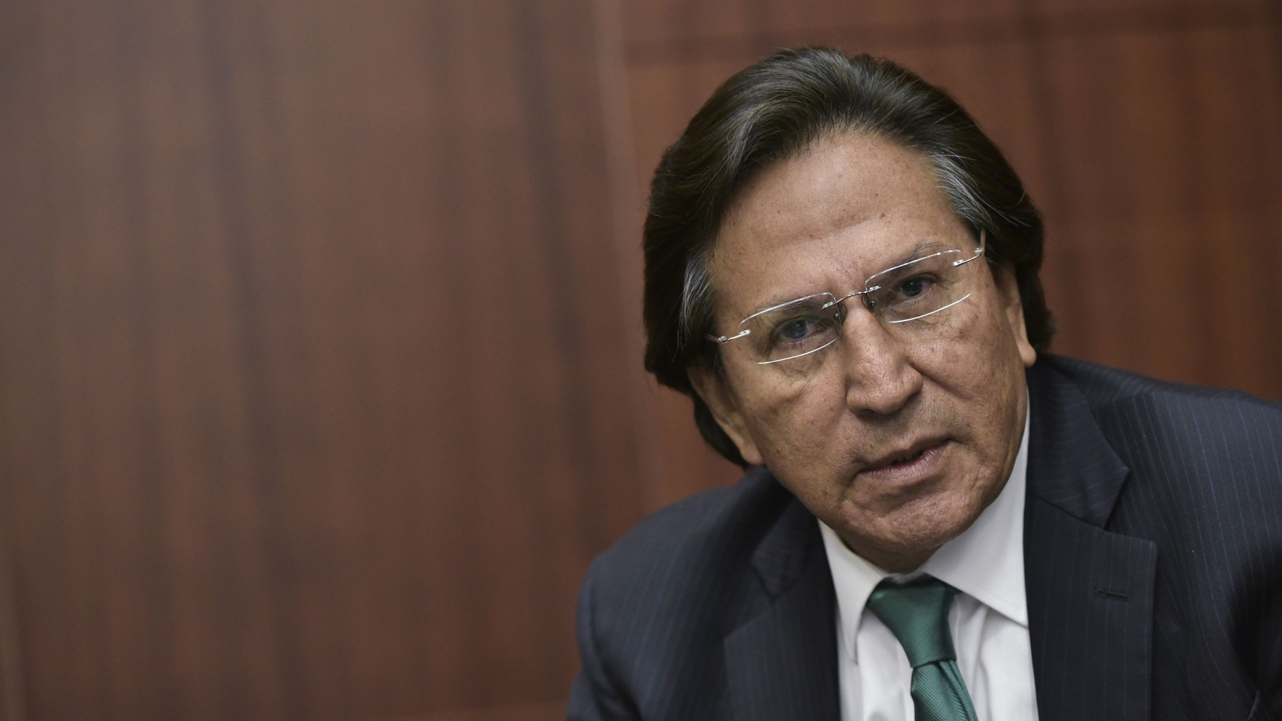Former President of Peru Alejandro Toledo speaks during a discussion on Venezuela and the OAS at The Center for Strategic and International Studies (CSIS) on June 17, 2016 in Washington, DC. (Credit: MANDEL NGAN/AFP/Getty Images)