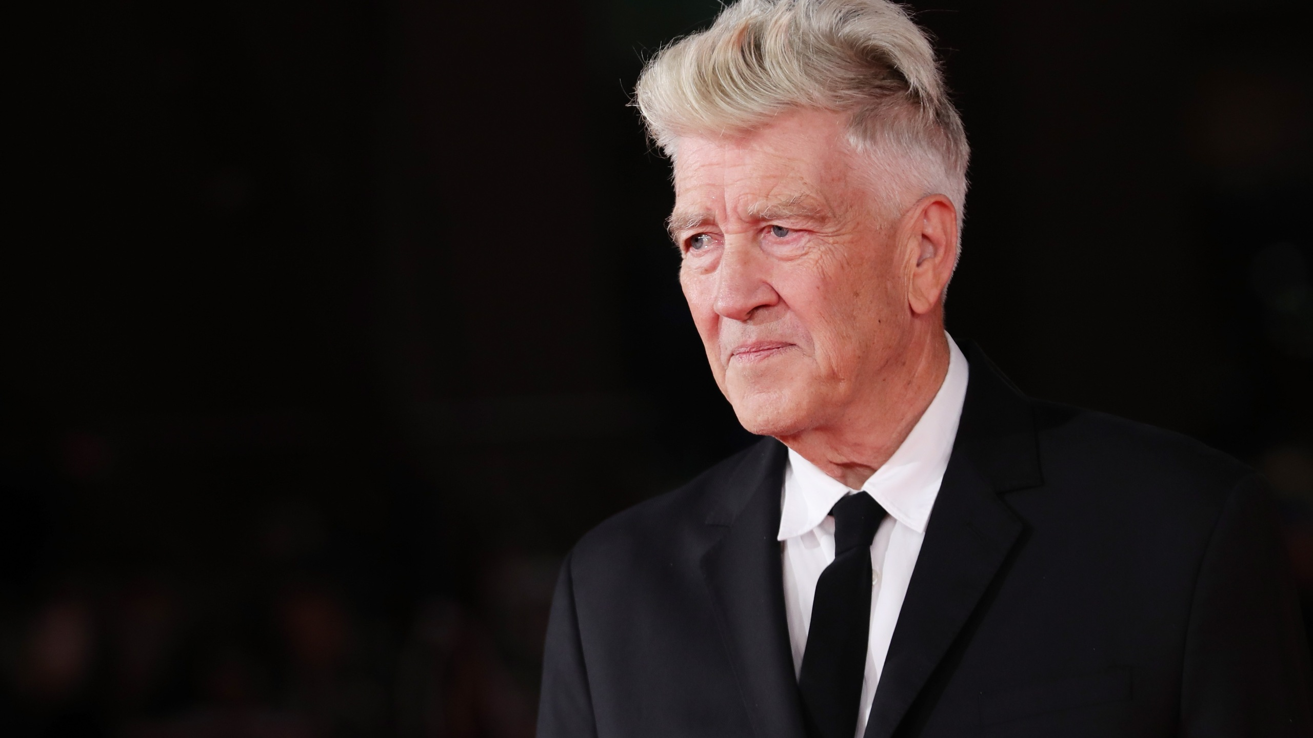 David Lynch walks the red carpet during the 12th Rome Film Fest at Auditorium Parco Della Musica on Nov. 4, 2017 in Rome. (Credit: Vittorio Zunino Celotto/Getty Images)