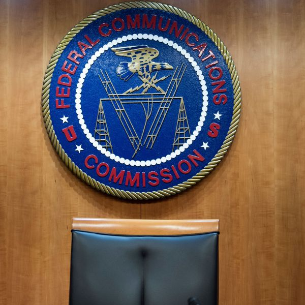 A view of the commission's hearing room before a hearing at the Federal Communications Commission on December 14, 2017 in Washington, DC. (Credit: BRENDAN SMIALOWSKI/AFP/Getty Images)