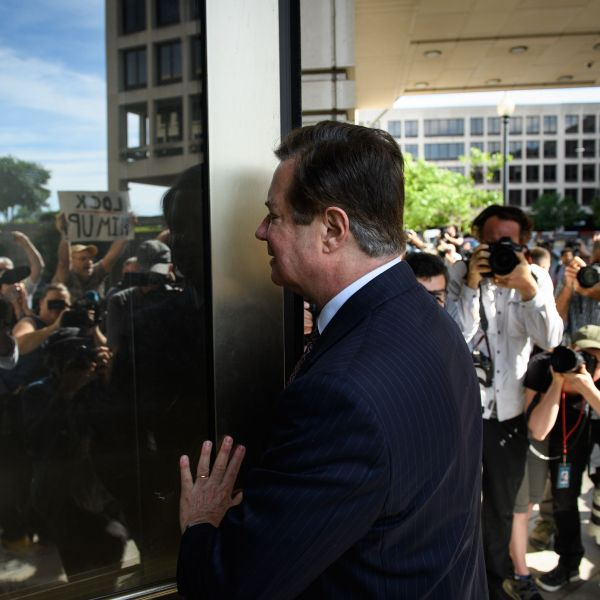 Paul Manafort arrives for a hearing at U.S. District Court on June 15, 2018, in Washington, D.C. (Credit: MANDEL NGAN/AFP/Getty Images)
