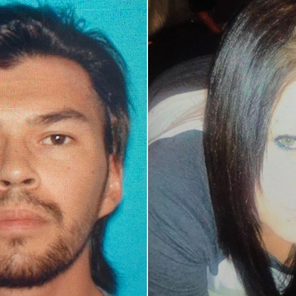 Cody Pangle, left, and Christa Thomas are seen in photos released March 18, 2019, by the San Bernardino County Sheriff's Department.