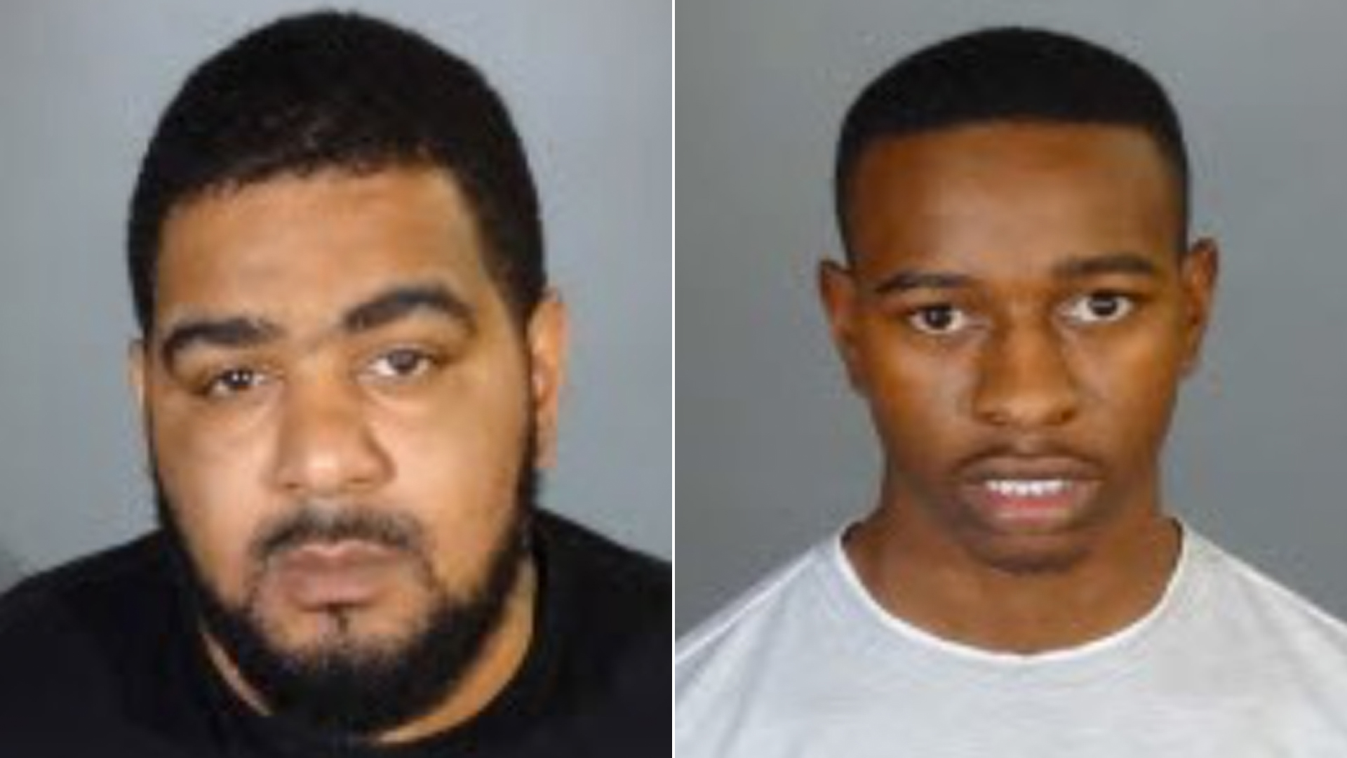 Devian Lockhart, left, and Christopher Curry are seen in booking photos released by the Los Angeles Police Department on March 6, 2019.