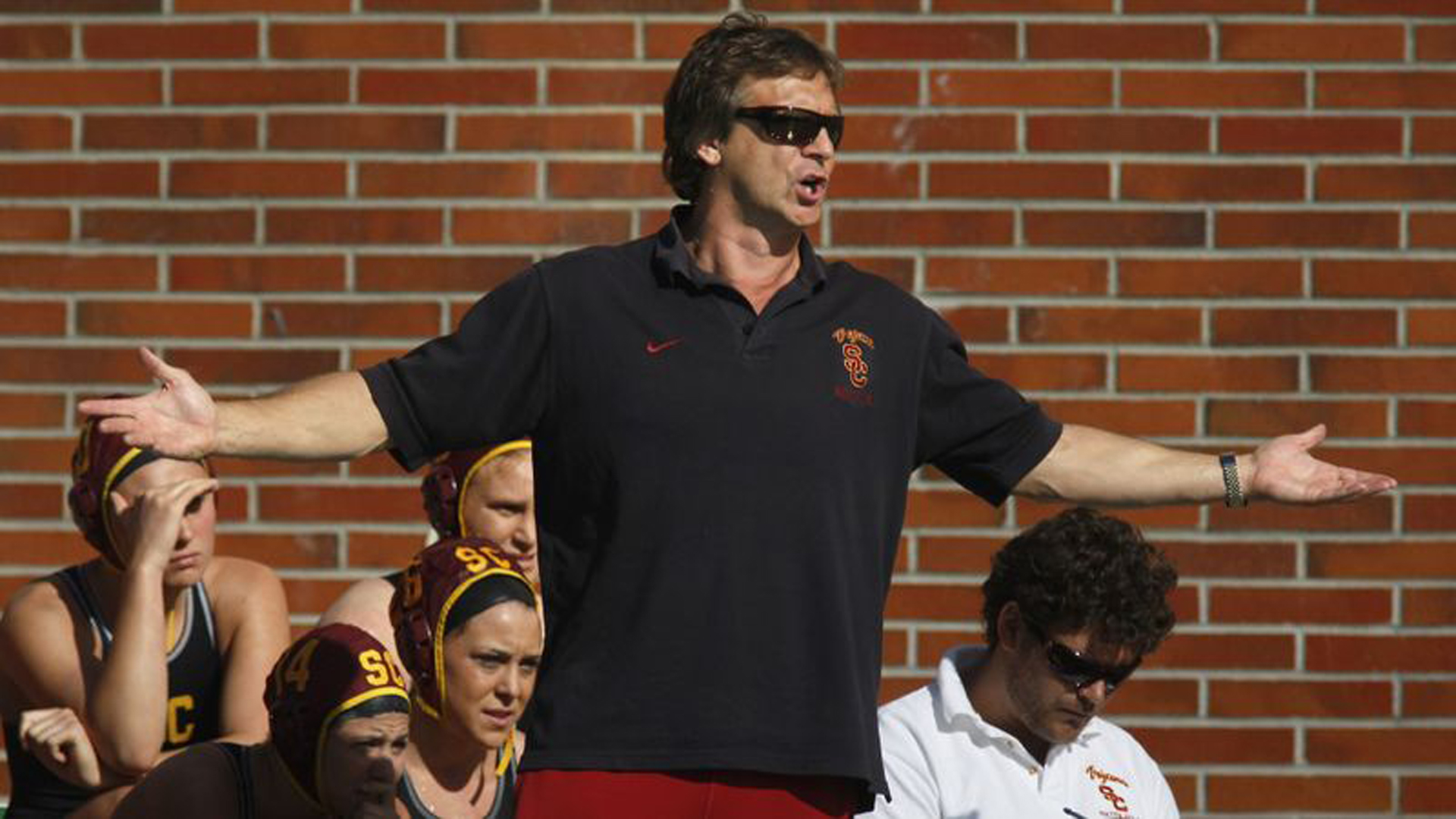 USC water polo coach Jovan Vavic, who has led the men's and women's teams to a combined 16 national championships, is seen in a file photo from 2012. (Credit: Brian van der Brug / Los Angeles Times)