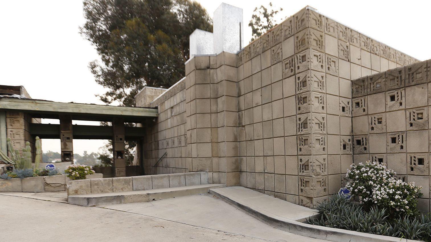 Frank Lloyd Wright's Freeman House is seen in 2019. (Credit: Al Seib / Los Angeles Times