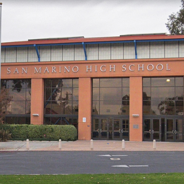 San Marino High School is seen in this image from Google Maps.