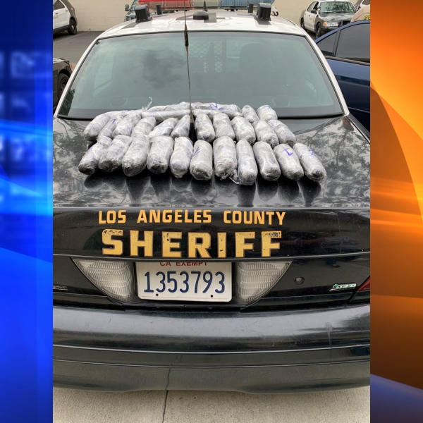 Deputies seized 29 pounds of methamphetamine and arrested a man following a routine traffic stop in South Whittier on March 1, 2019. (Credit: Los Angeles County Sheriff's Department)