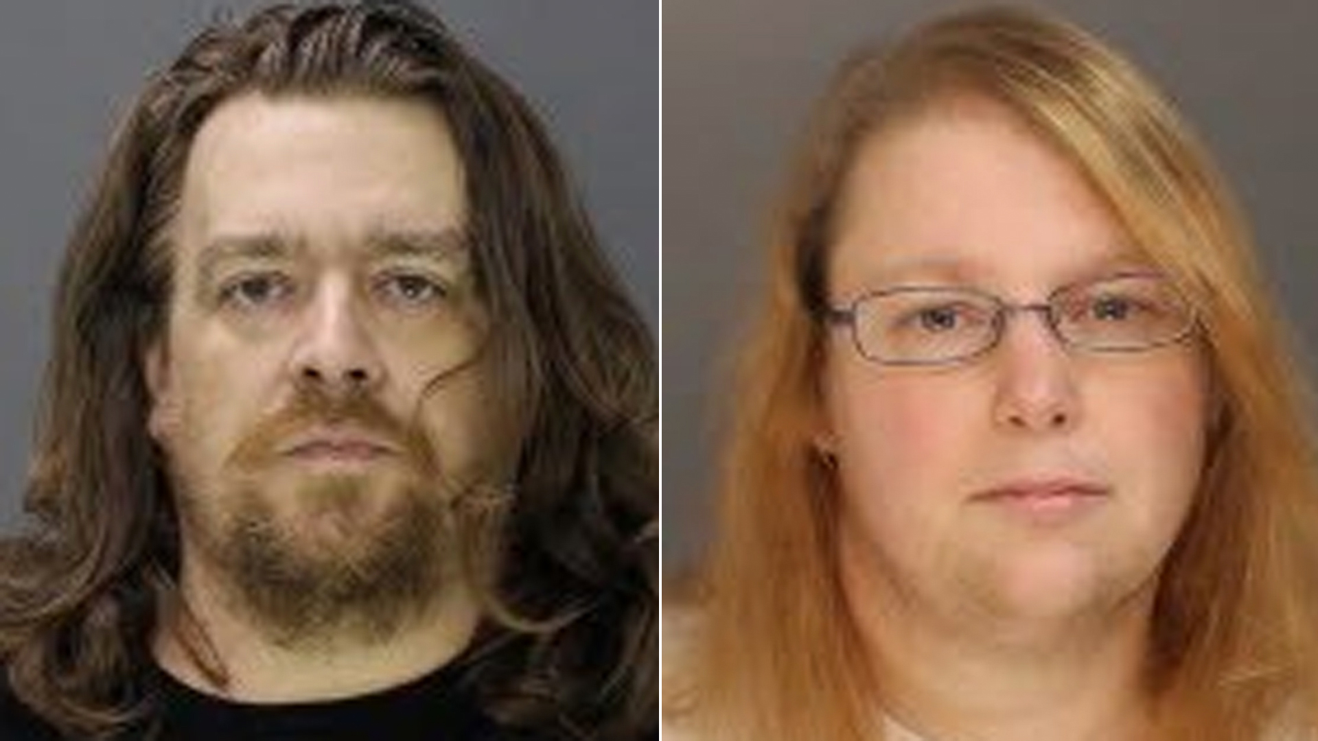Jacob Sullivan, left, and Sara Packer, right, are seen in photos released by the Bucks County District Attorney's Office.