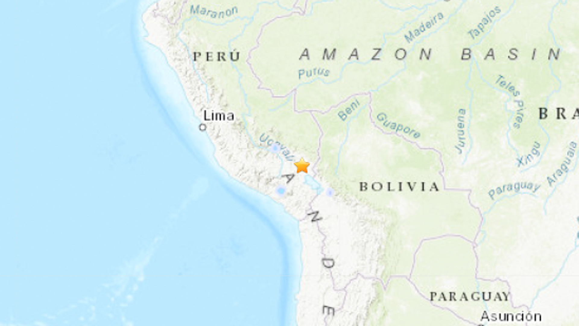 Peru was shaken by an earthquake on March 1, 2019. (Credit: USGS)