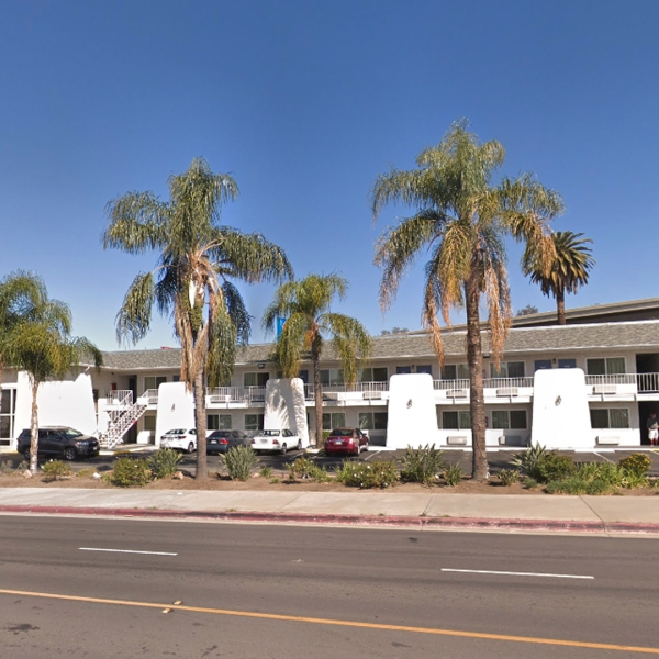 The Motel 6 on Colton Avenue in Redlands is seen in a Google Maps Street View image from February 2018.