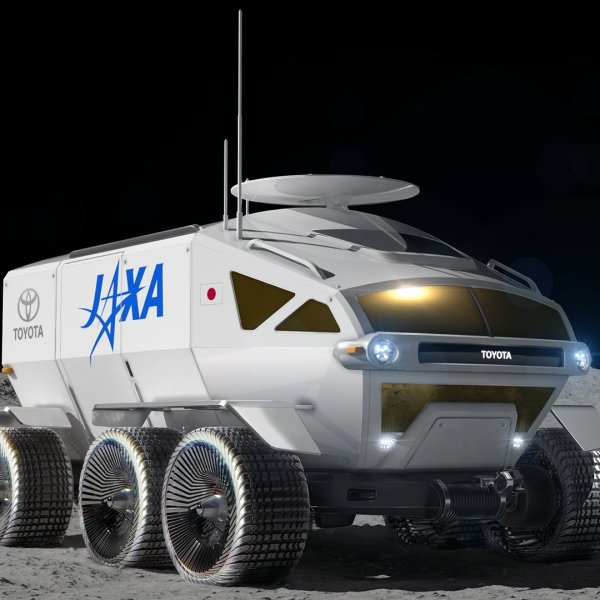 A concept image of Toyota's planned moon rover. (Credit: Toyota)