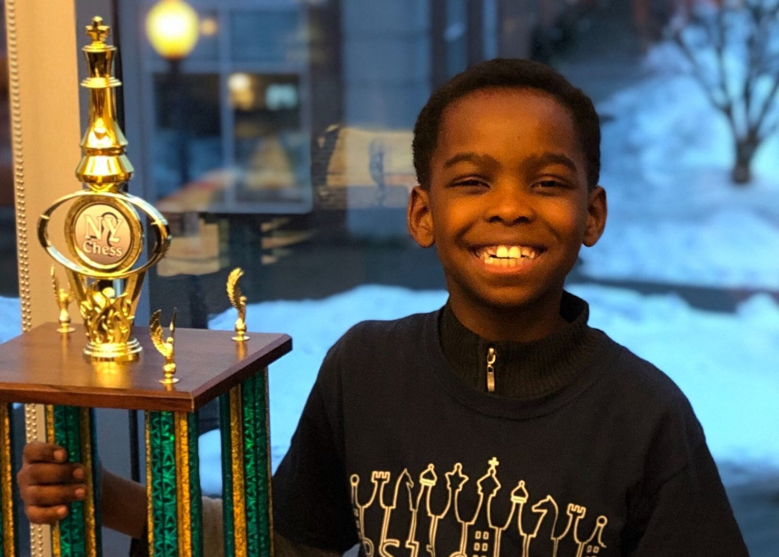 Tanitoluwa (Tani) Adewumi only learned to play chess about a year ago, but he won the New York State Scholastic Primary Championship in his age bracket. (Credit: CNN)