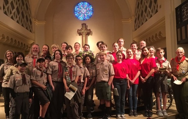 Members of Laguna Beach Troop 35 pose for a photo posted on the group's website in March 2019.