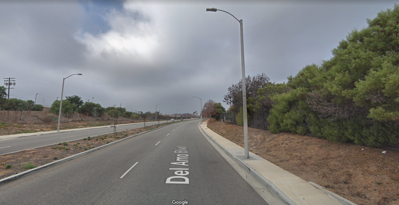 The 2300 block of Del Amo Boulevard in Torrance is seen in a Google Maps Street View image on March 26, 2019.