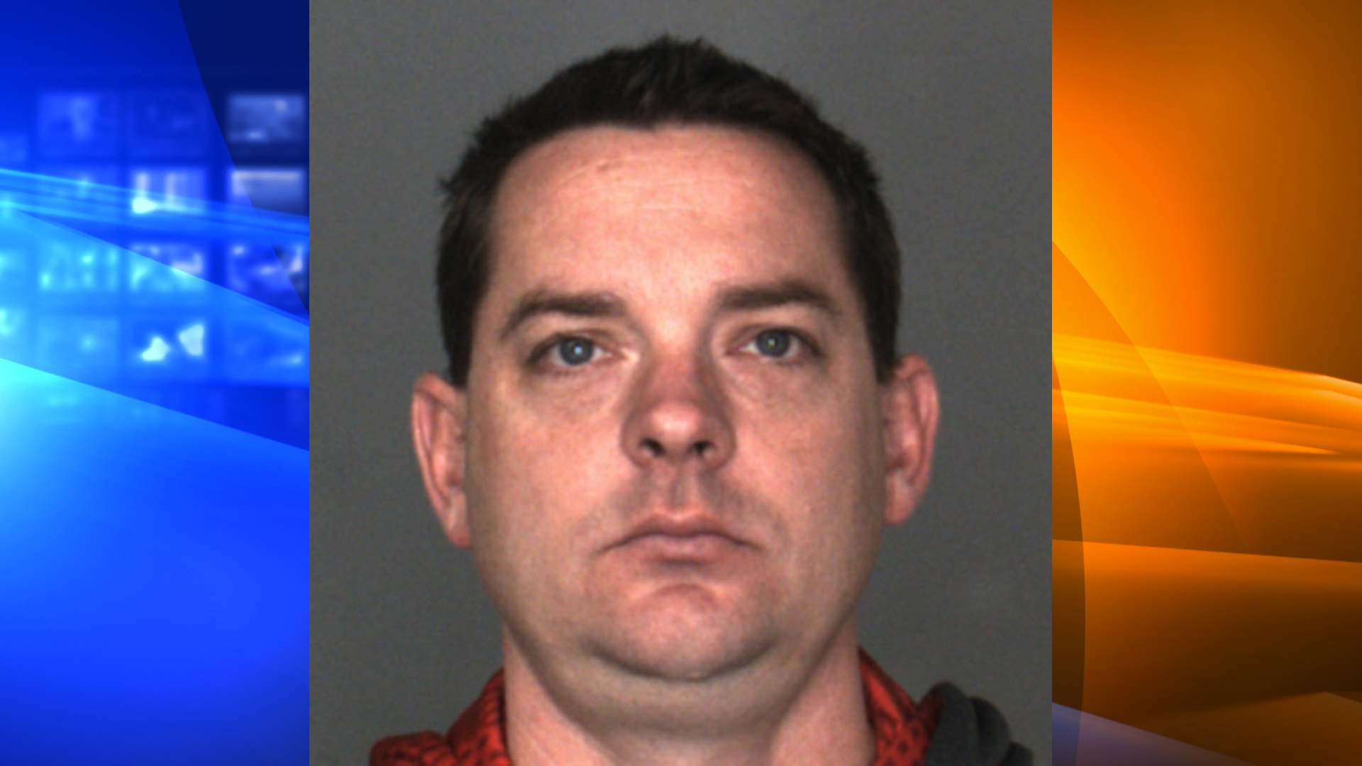Jason James Bemowski, 38, a sergeant in the Chino Police Department, pictured in a photo released by the Roseville Police Department following his arrest on March 7, 2019.
