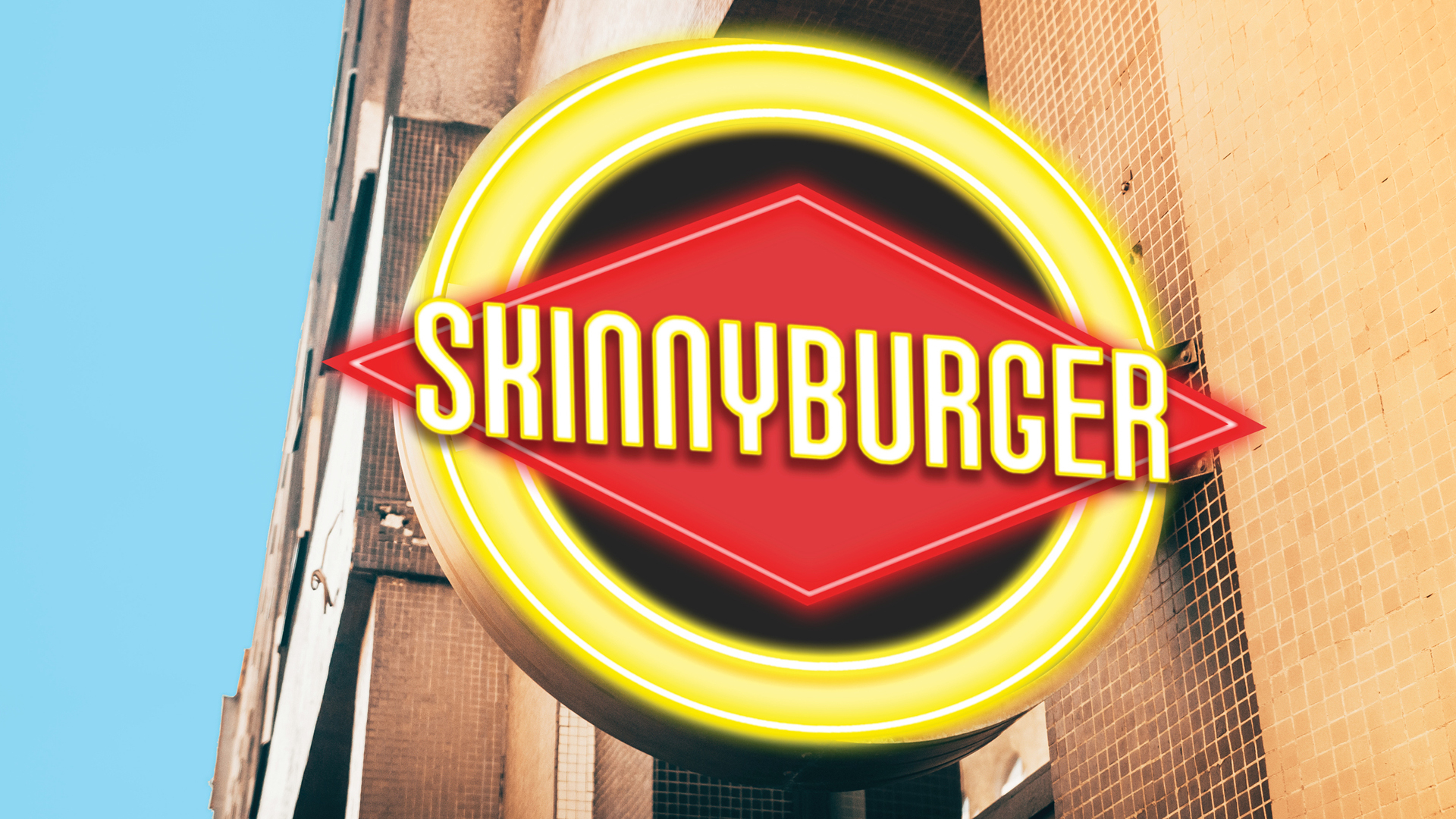 A sign for the newly rebranded Skinnyburger, the Los Angeles-based chain formerly known as Fatburger, is seen in an image provided by the company.