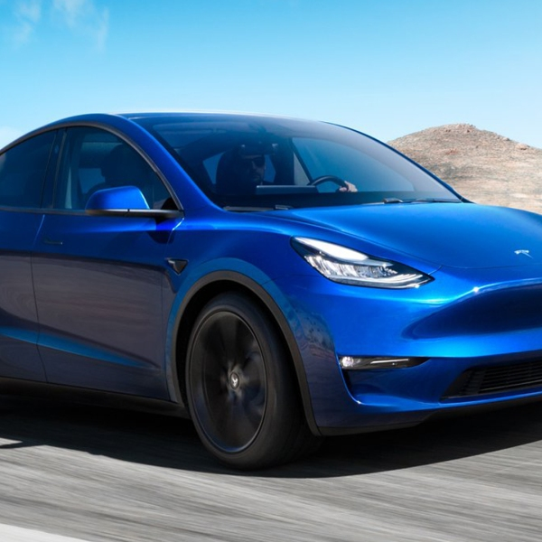 An image of Tesla's new Model Y, released on March 14, 2019. (Credit: Tesla)