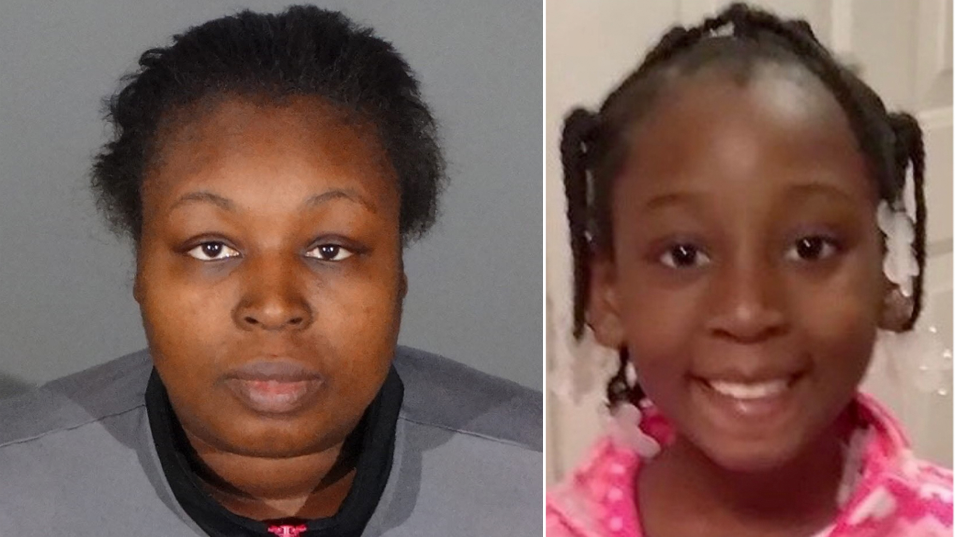 Taquesta Graham, 28, is seen in an undated booking photo provided by the Los Angeles County Sheriff's Department (left.) Trinity Love jones is seen in an undated photo provided by the department (right.)