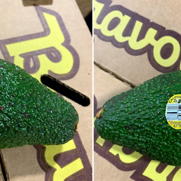 The avocados that were recalled by Henry Avocado are seen in undated photos provided by the company.