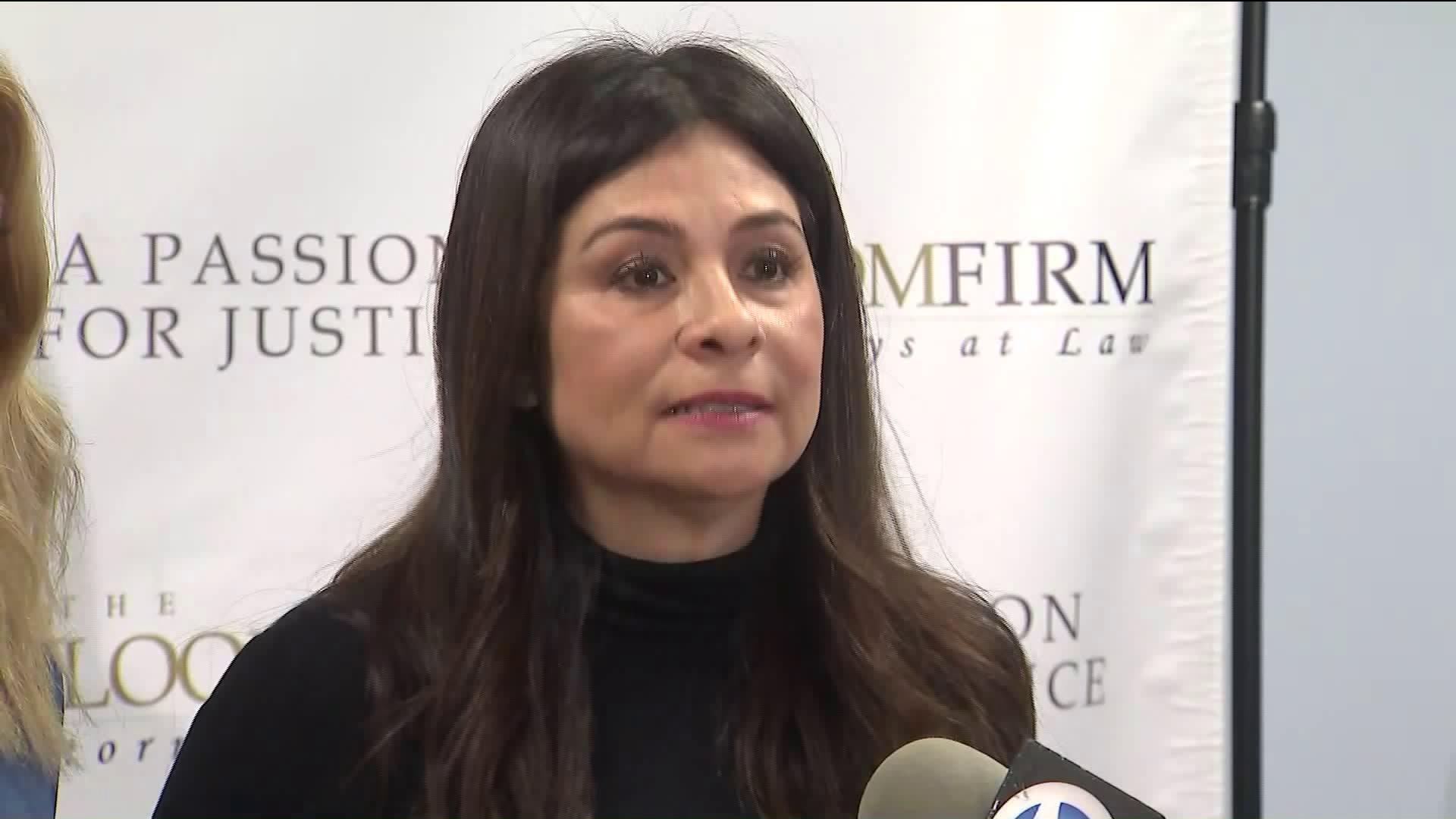 LAPD Det. Ysabel Villegas speaks to reporters on March 6, 2019. (Credit: KTLA)