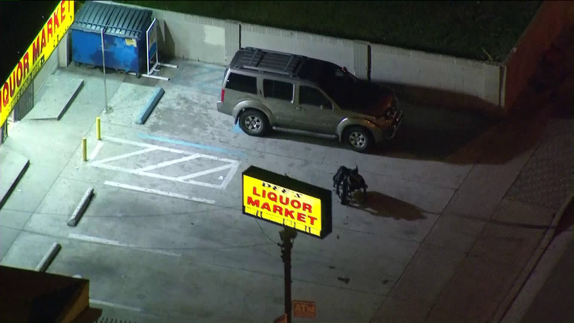 Three people were wounded, two of them critically, in a shooting in Willowbrook on March 8, 2019. (Credit: KTLA)