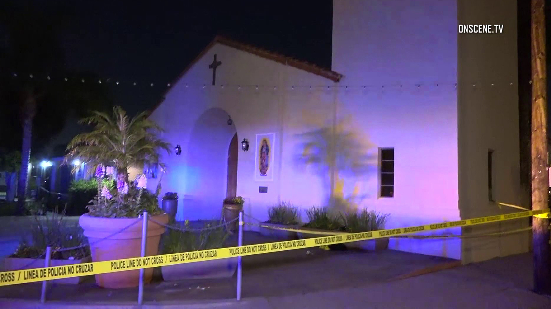 Police investigate a carjacking in Santa Ana on April 22, 2019. (Credit: OnScene.TV)