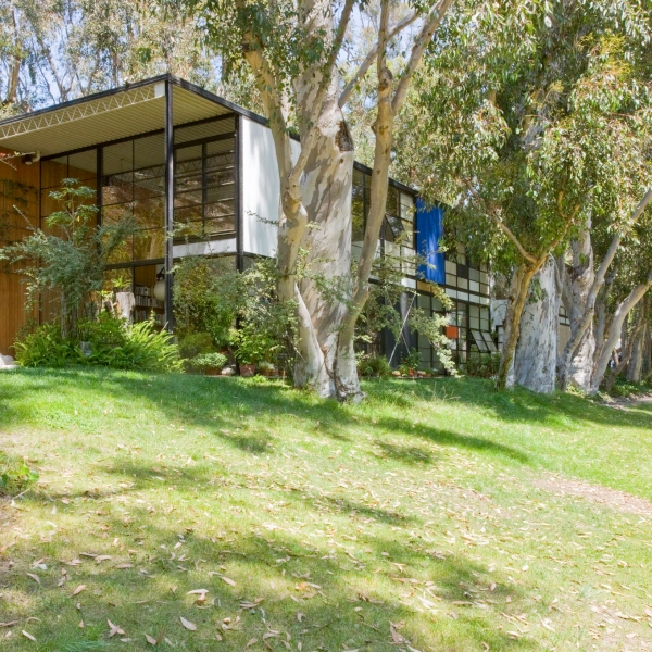 The Eames House in the Pacific Palisades is seen in 2013. (Credit: Leslie Schwartz / Eames Office via Getty Conservation Institute)