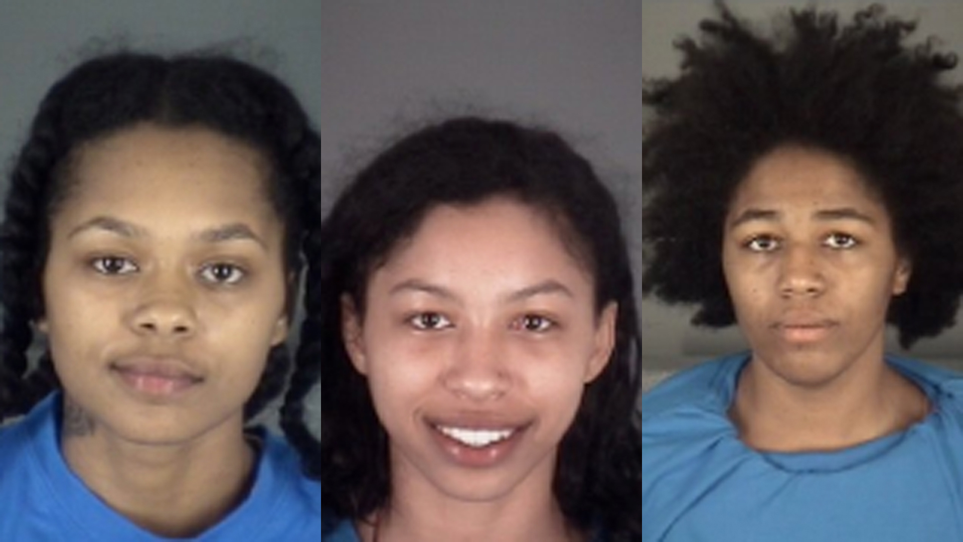 The booking photos of the three were women were obtained by WFTS and distributed by the CNN Wire.