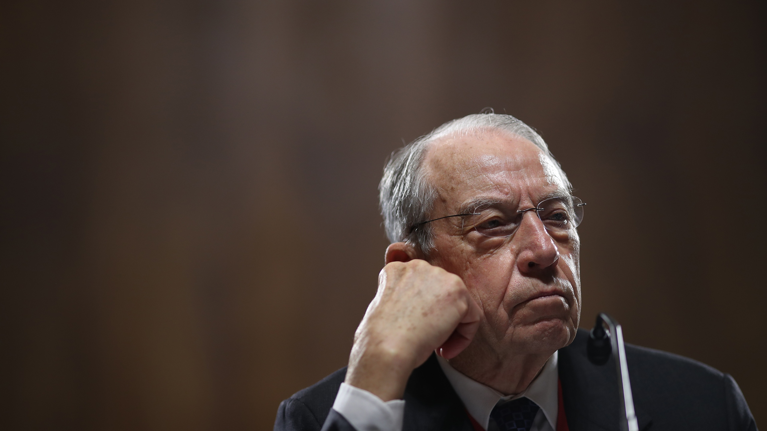 Sen. Chuck Grassley (R-IA) attends a committee hearing on Capitol Hill November 15, 2018 in Washington, DC. (Credit: Win McNamee/Getty Images)