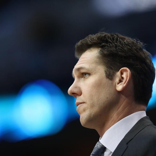 Luke Walton looks on during a game between the Los Angeles Lakers and the Dallas Mavericks at American Airlines Center on Jan. 7, 2019 in Dallas, Texas. (Credit: Ronald Martinez/Getty Images)