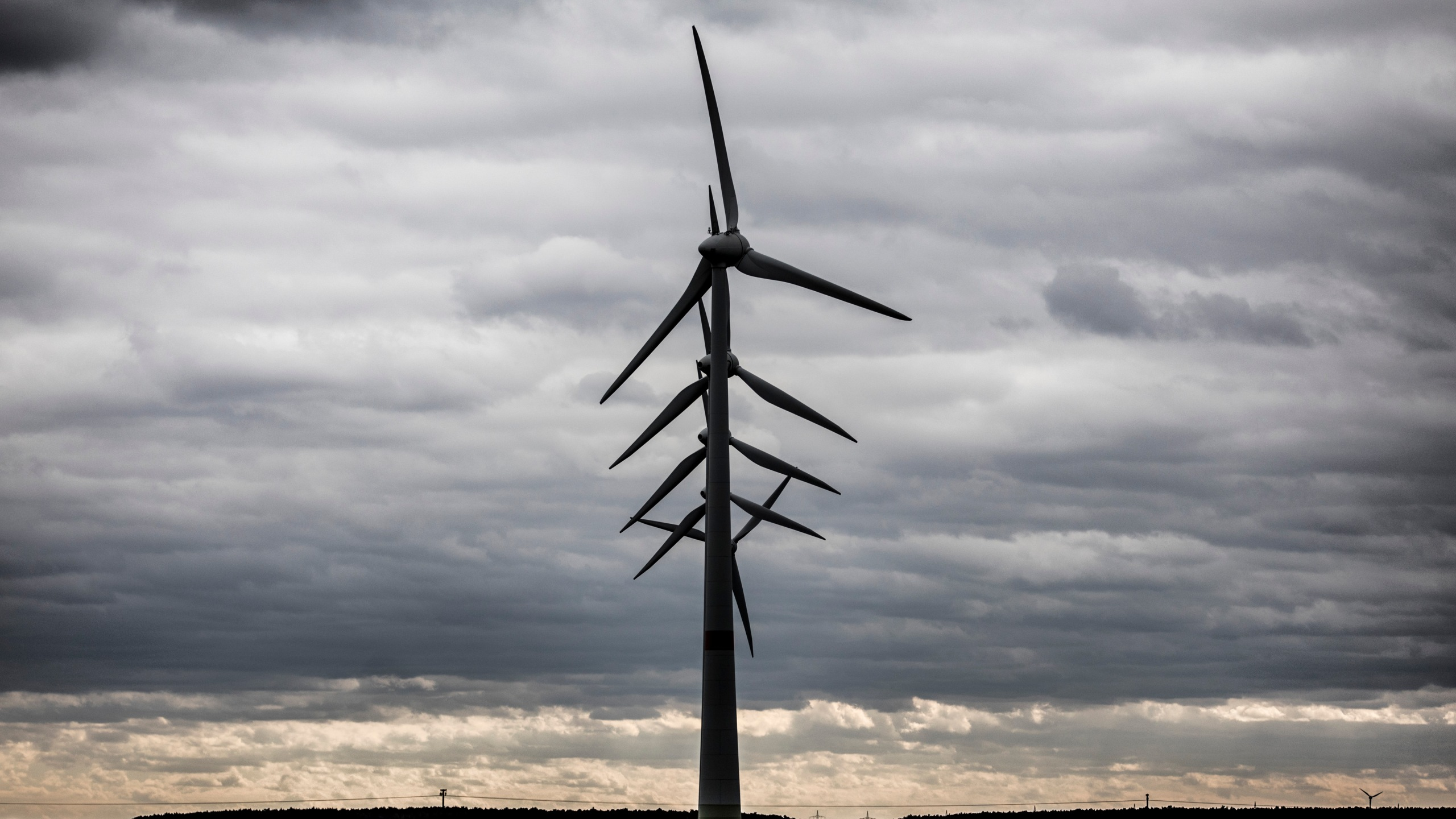 Wind turbines in a wind park are pictured on March 13, 2019. (Credit: Florian Gaertner/Photothek via Getty Images)