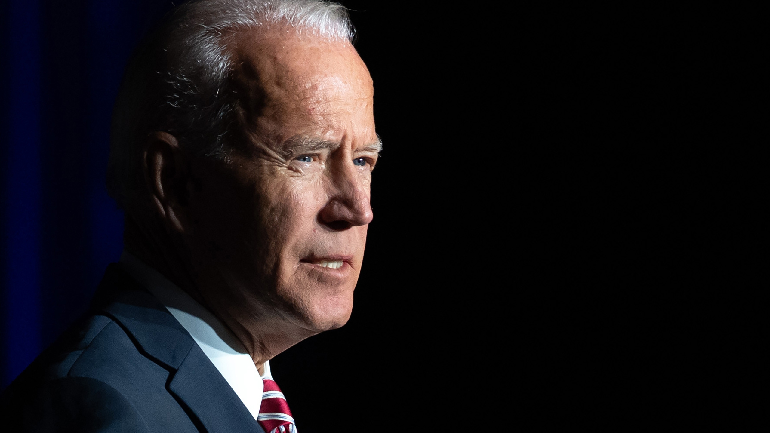 Joe Biden speaks during the First State Democratic Dinner in Dover, Delaware, on March 16, 2019. (credit: Saul Loeb/AFP/Getty Images)