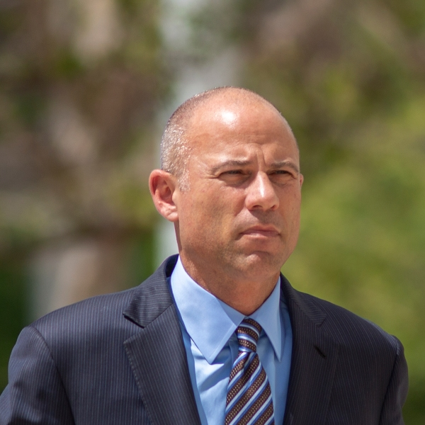 Celebrity lawyer Michael Avenatti arrives for his first hearing in Santa Ana federal court on bank and wire fraud charges on April 1, 2019. (Credit: David McNew / Getty Images)
