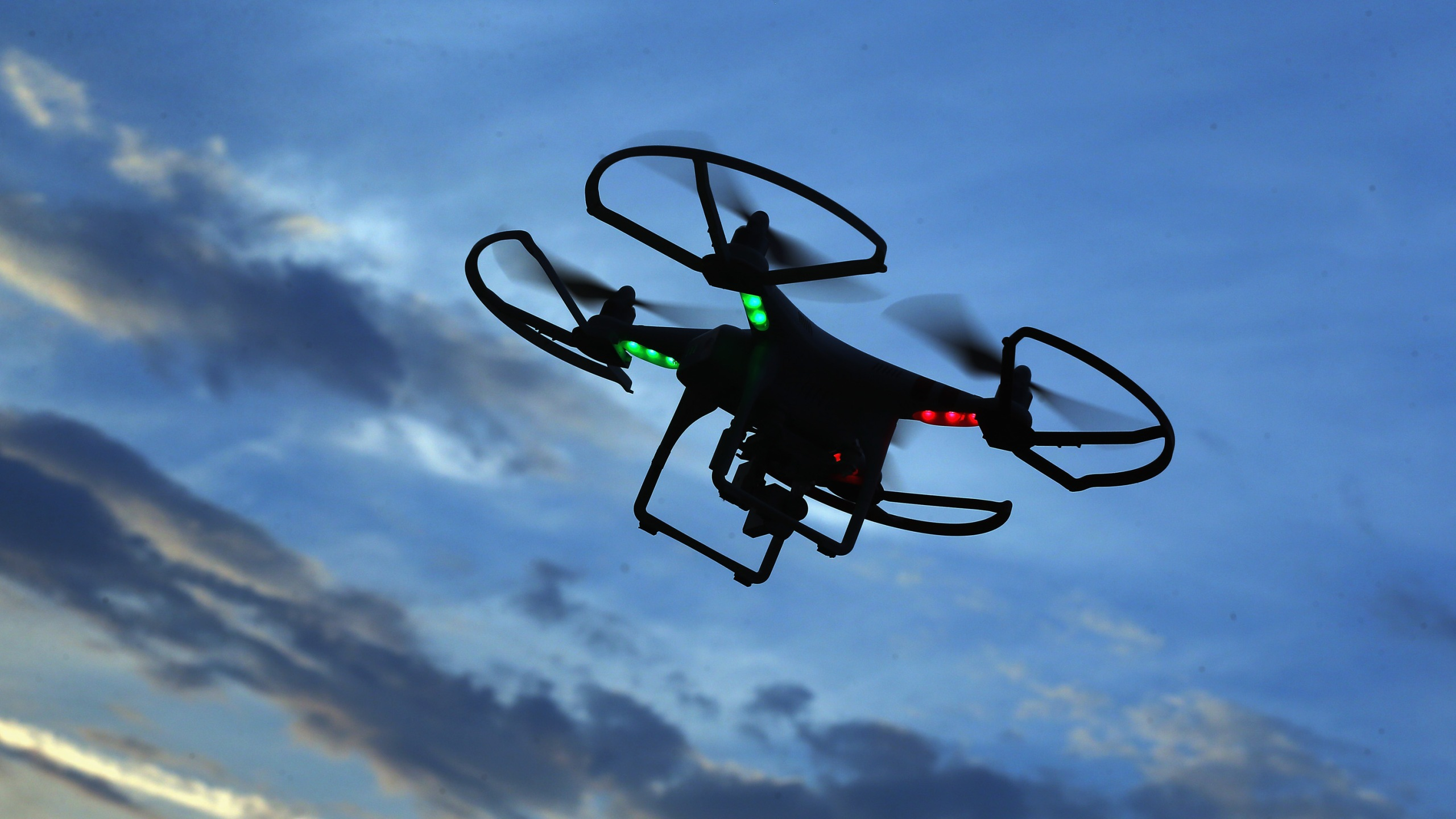 This undated file photo shows a drone in flight. (Credit: Bruce Bennett/Getty Images)