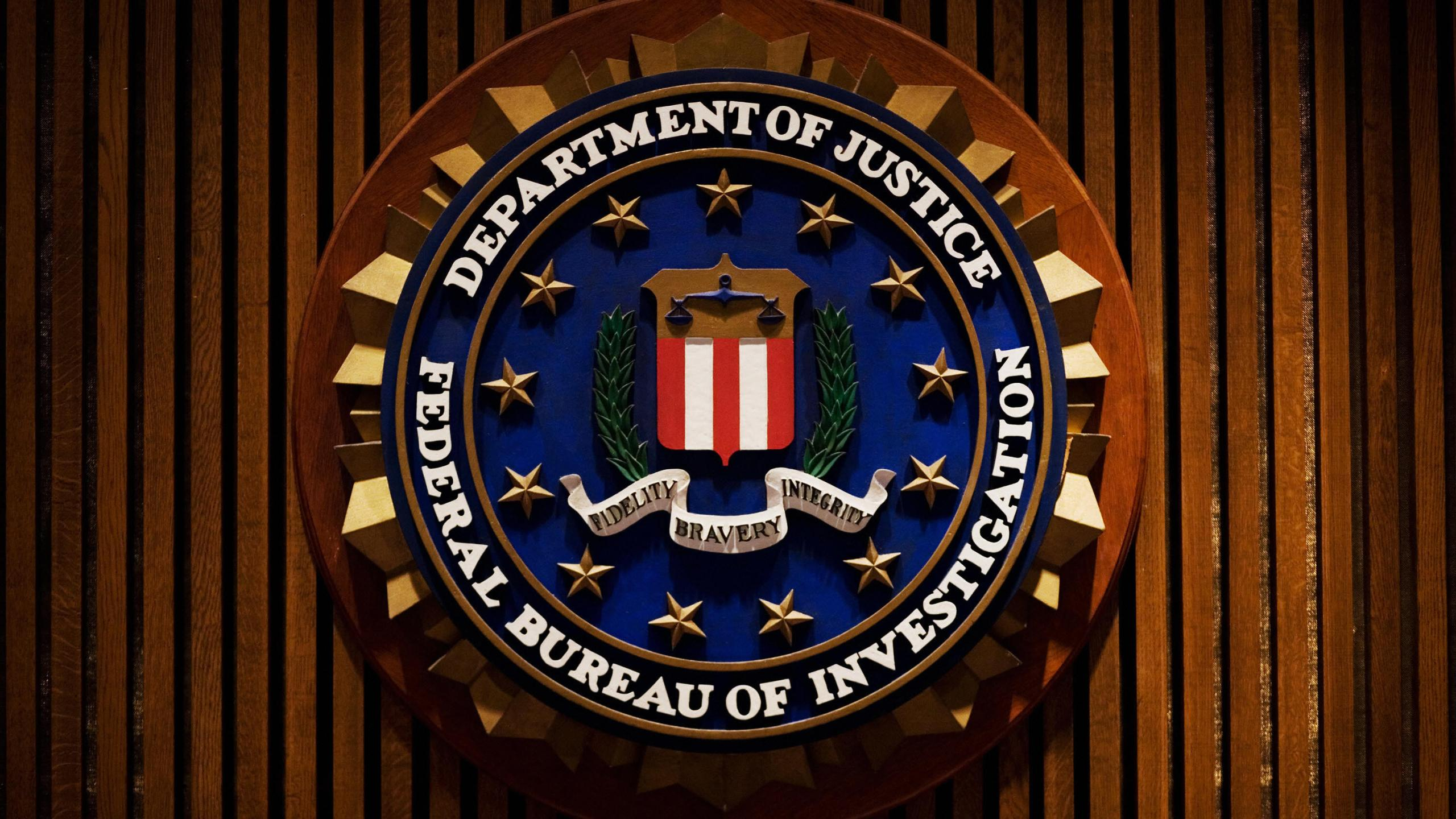 A crest of the Federal Bureau of Investigation is seen 03 August 2007 inside the J. Edgar Hoover FBI Building in Washington, DC. AFP PHOTO/Mandel NGAN (Credit: MANDEL NGAN/AFP/Getty Images)