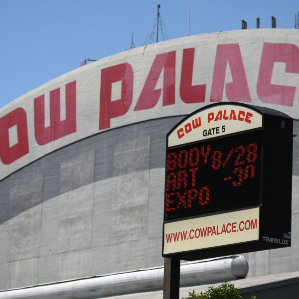 A sign displays future events at the Cow Palace May 14, 2009 in Daly City, California. (Credit: Justin Sullivan/Getty Images)