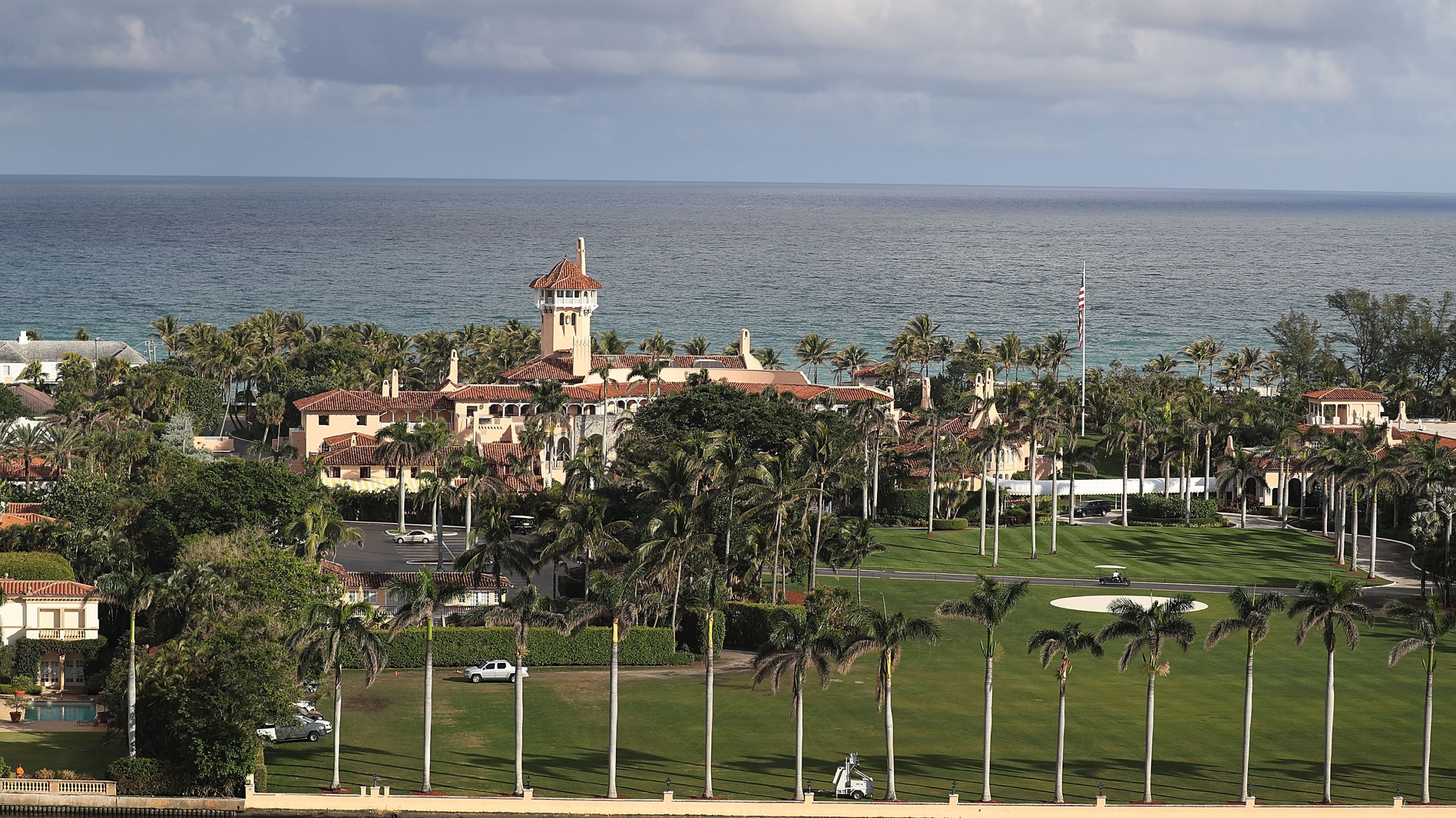 An aerial view of the Mar-a-Lago resort in Palm Beach, Florida, on January 11, 2018. (Credit: Joe Raedle/Getty Images)
