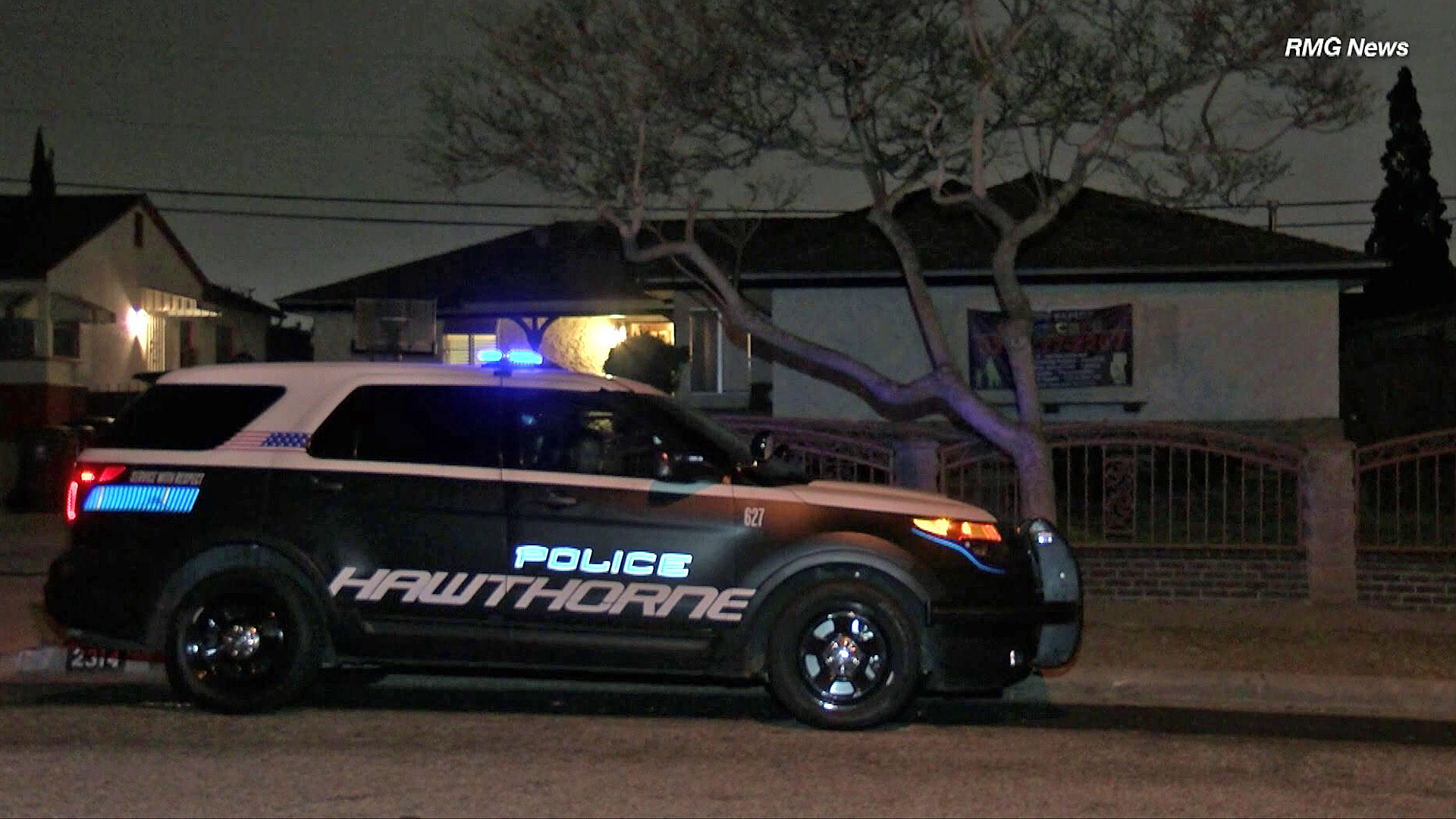Police investigate the death of a baby in Hawthorne on April 24, 2019. (Credit: RMG News)