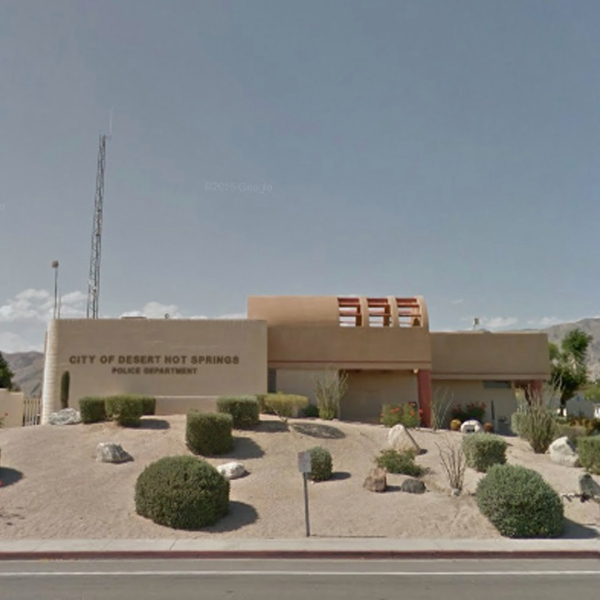The Desert Hot Springs Police Department is seen in this undated image from Google Maps.