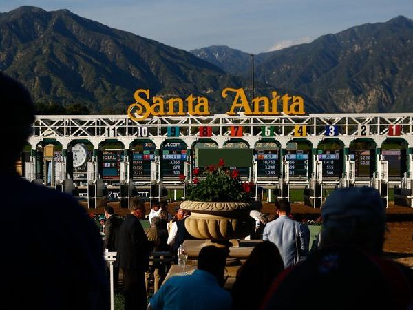 The Santa Anita racetrack in Arcadia is seen in this undated photo. (Credit: Kent Nishimura / Los Angeles Times)