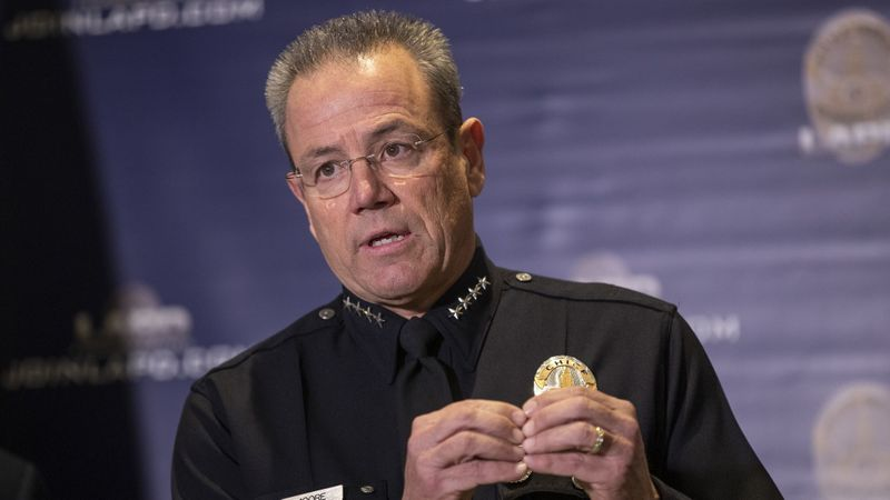 Los Angeles Police Chief Michel Moore is seen in an undated photo. (Credit: Allen J. Schaben / Los Angeles Times)