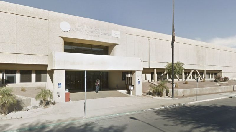 The Imperial County Administration Center in El Centro (Credit: Los Angeles Times)