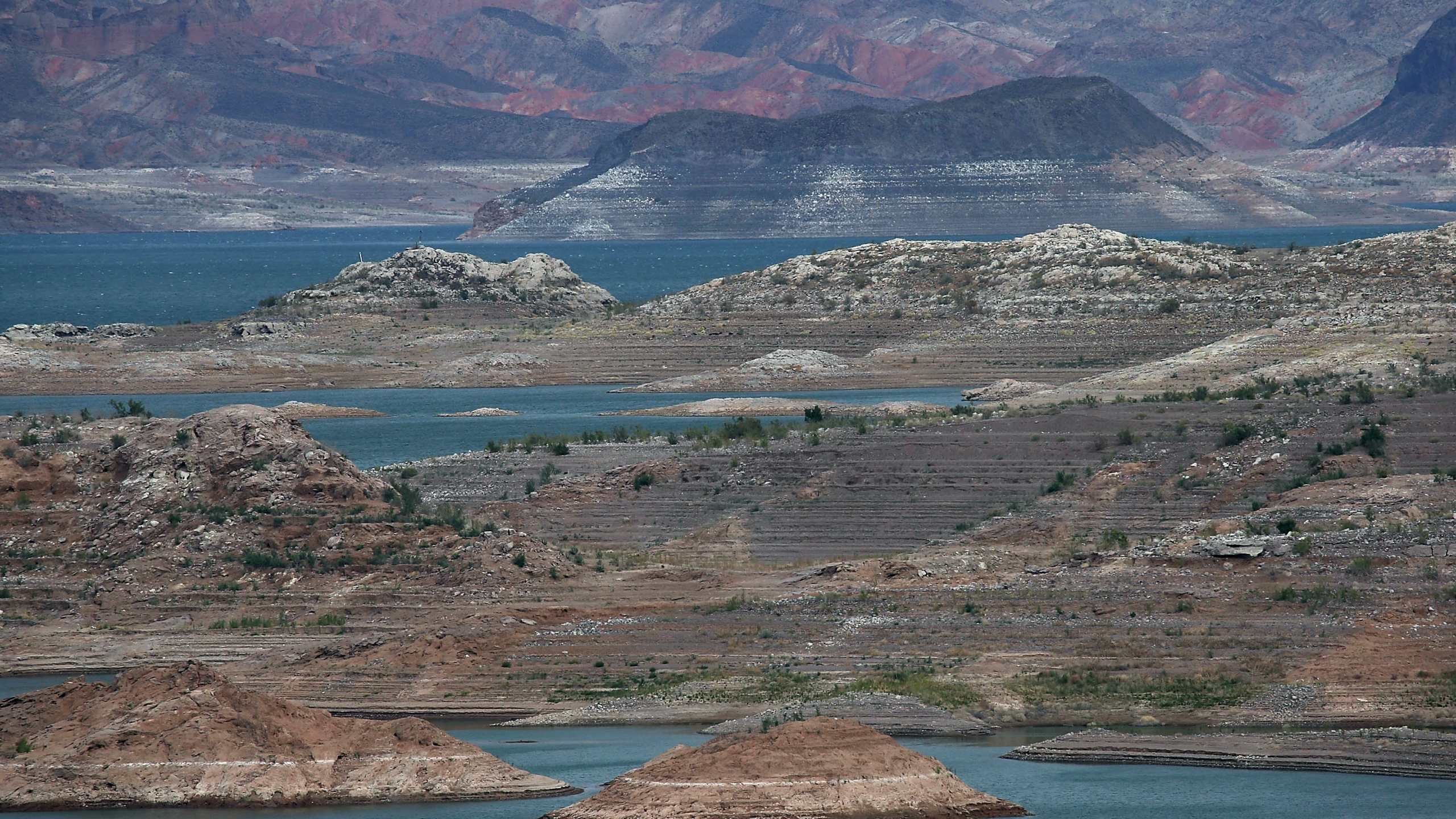Low water levels are visible at Lake Mead on May 13, 2015, in Nevada's Lake Mead National Recreation Area. (Credit: Justin Sullivan / Getty Images)