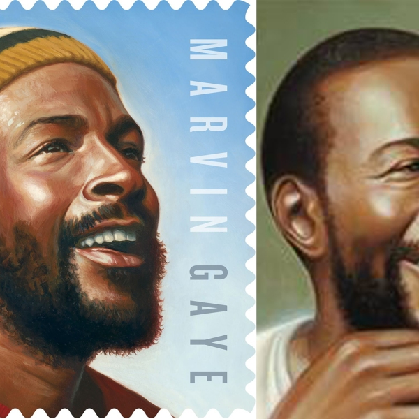 The U.S. Postal Service released the Marvin Gaye commemorative stamp on April 2, 2019.