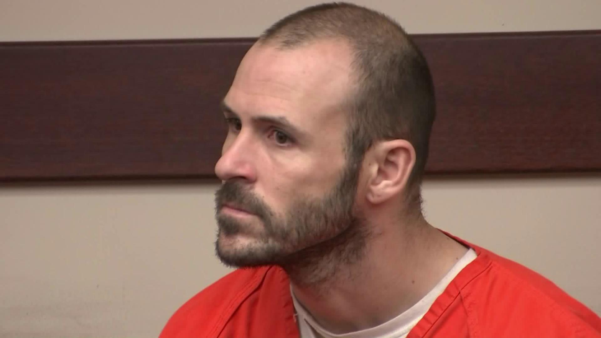 Bryce McIntosh appears in court on April 3, 2019. (Credit: KTLA)