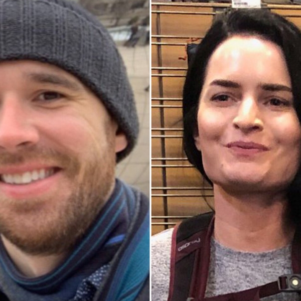 Eric Desplinter and Gabrielle Wallace appear in images released by the San Bernardino County Sheriff's Department in April 10, 2019.