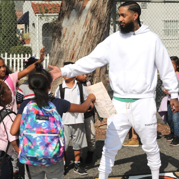 "California Rep. Karen Bass plans to honor slain rapper Nipsey Hussle's ""contributions to South Los Angeles"" on the House floor next week. (Credit: Getty Images)"