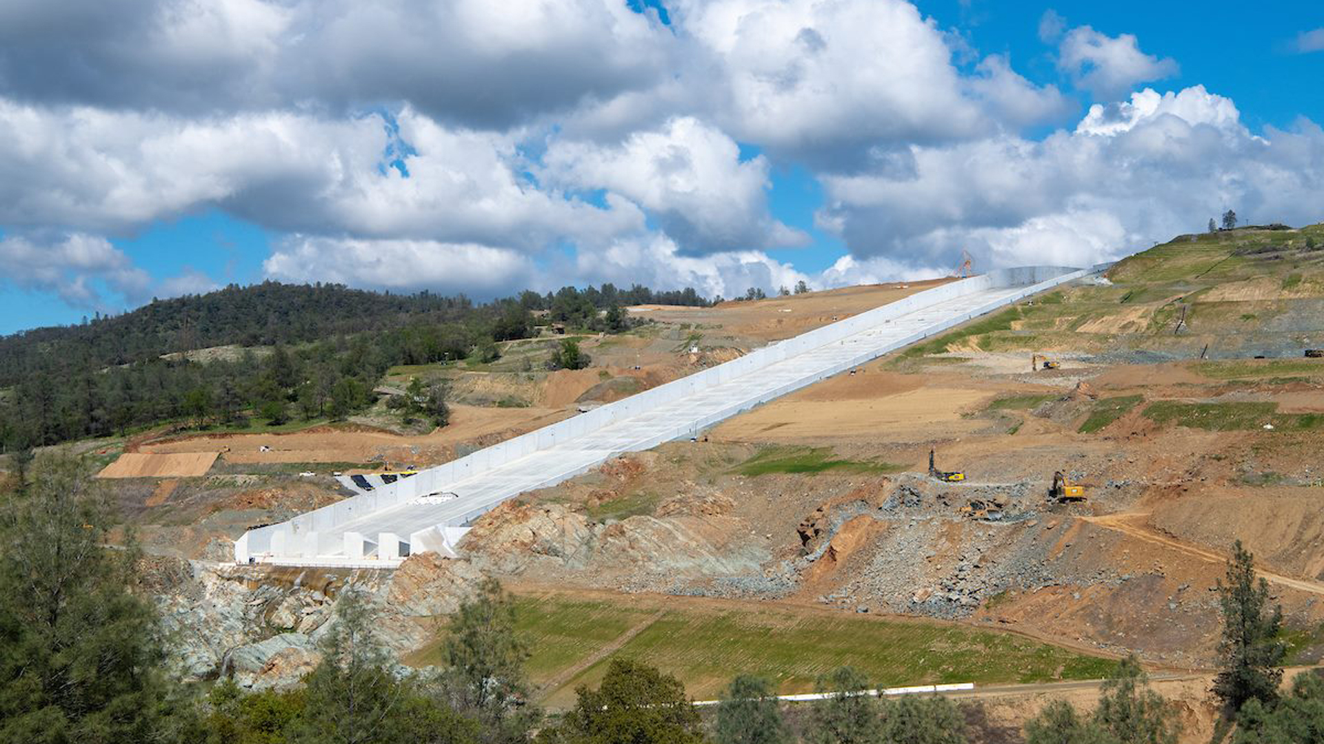 The California Department of Water Resources released this photo of the Oroville Dam spillway on March 25, 2019.