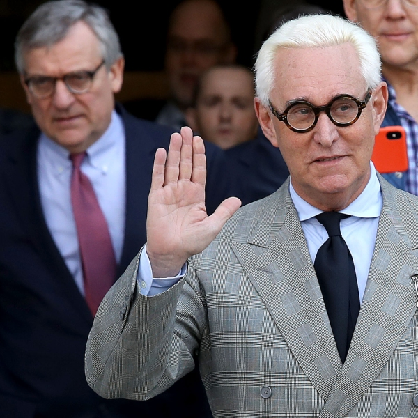 Roger Stone, former adviser to U.S. President Donald Trump, departs the E. Barrett Prettyman United States Court House on March 14, 2019. (Credit: Win McNamee/Getty Images)