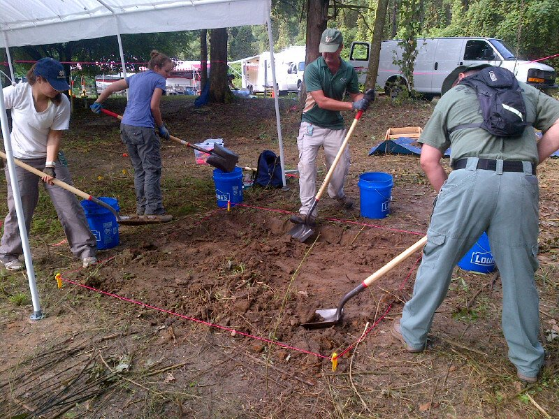 Anthropologists begin digging to unearth what they believe are the remains of dozens of children buried on the grounds of a former reform school in Marianna, Florida. (Credit: Rich Phillips/CNN)